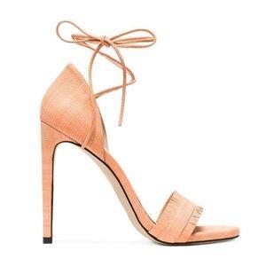 Stuart Weitzman Melon Nudewrap Sandal   Size 9